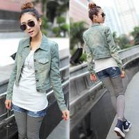 plus size ladies jacket short denim jacket 2014 women's slim denim coat outerwear jackets women coats winter coat jeans woman