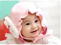 Free Shipping 1pc Baby Hat Lotus Rabbit Cap Fashion Cartoon Rabbit Baby Hat Cheap Wholesale All Kinds Children's Hats CL0222