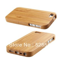 Free shipping Natural Bamboo Wooden Wood BackCover Hard Case Skin for iPhone 5