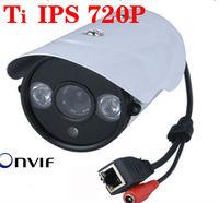 TI 1MP Mini Bullet Camera Full 720P HD  Outdoor IR Network IP Camera 2013 produtcs in China cctv camera Onvif outdoor ip camera