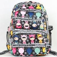 waterproof nylon backpack travel bag school bag girls male backpack