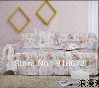 100% pure cotton fabric three seat sofa cover set full 200cm*300cm & customized size