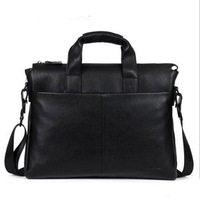new 2013 Official package genuine leather messenger bag fashion commercial quality cowhide men travel bags 9313-5