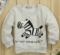 free shipping (1piece /lot) 100% cotton 2013 cute Zebra baby tops (003)