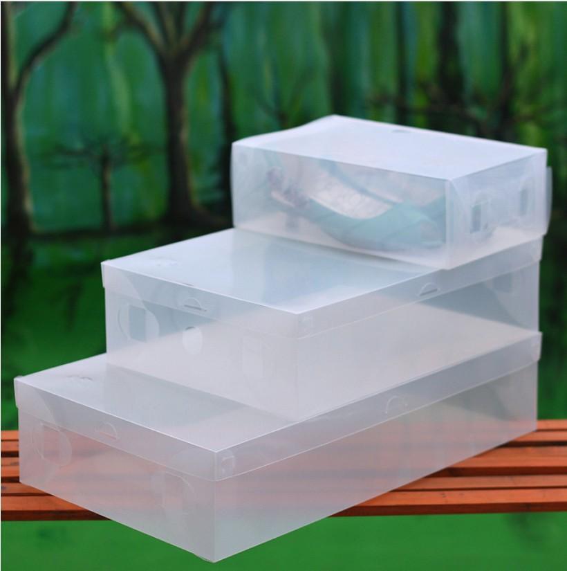 Transparente niño/señora/hombre claro apilables de zapatos de plástico cajas de almacenamiento organizador caso