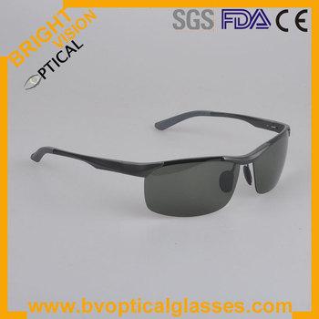 #2083  Men fashion sunglasses with spring hinge Alloy aluminium sport polarized sunglasses