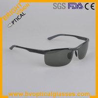 2013 men fashion sunglasses Alloy aluminium sport polarized sunglasses with spring hinge(2083)