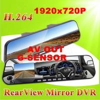 2.7' inch ultra-thin Rearview Mirror Full HD1920*720P Car DVR Video Recorder Black Box Carcam G sensor Night Vision