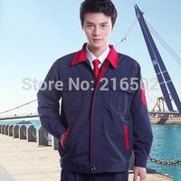 FREE SHIPPING set of Coat+ Pants worker uniform  engineer work wear gas station uniform car service uniform  wear g-s302