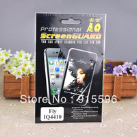 5pcs/lot Clear Screen Protector For Fly IQ4410 Quad Phoenix LCD Film with Clean Cloth retail package free shipping
