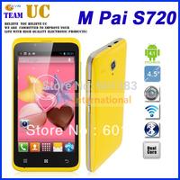 (screen protector) M pai S720 original in stock 4.5'' (854*480) 512MB+4GB MTK6572 Dual Core 2500mAh*2 Android 4.2 phone 4 color