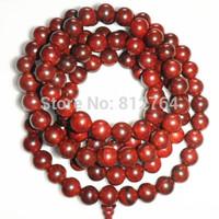 NEW Free shipping wholesale&retail 108*10mm genuine red sandalwood wooden beads bracelet Buddha prayer mala Men&women Yoga malas