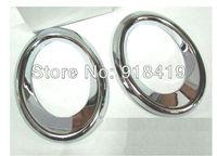 Free Shipping For 2010~2011 Audi Q5 Chrome Fog Light Cover Trim Mouding Exterior High Quality