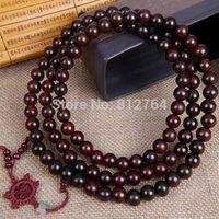 Free shipping wholesale 10pcs/lot 108*12mm genuine red sandalwood wooden beads bracelet Buddha prayer mala Men&women Yoga malas
