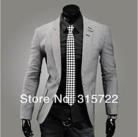 fashion cotton british style men's slim small suit leisure two button single row  plaid blazers M,L,XL,XXL XY-B008