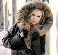Free shipping 2013 Winter WOMEN's Down Jacket Women Winter Coat with Fur collar