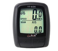 2014 NEW HOT Free shipping Cycling Bike Bicycle Wired Cycle Computer Odometer Speedometer Waterproof Black/white