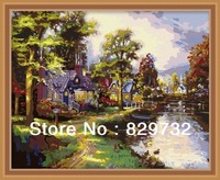 JIUJIU DIY digital oil painting Free shipping picture unique gift home decoration 40X50cm Near the river paint by number