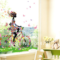 Hlwg wall stickers rustic large wall stickers sofa wall young girl