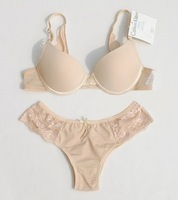 Free Shipping 93%Modal+7% Spandex   Brand Ladies Tulle Lace Push Up /Breathable Bra and Briefs Set