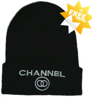 Goods Quality!Free shipping!CHANNEL HAT!Snowboard HATS,Unisex  Hip-Hop Knitting Wool CHANNEL BEANIE CAP!!