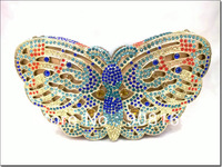 free shipping 2013 new Luxury animal style Butterfly crystal handbags women bags chain clutch bags