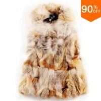 pattern spliced winter vest real fur coat fox Fox coat vest outerwear mink fur jacket winter real fur coat women trench raccoon