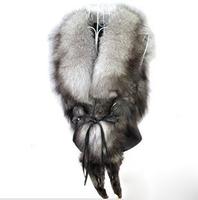 Yes new 2013 winter vest real fur coat fox Big silver fox raccoon sheepskin vest fur waistcoat mink fur vest new arrival leather