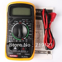 1pc/lot LCD Digital Multimeter AC DC Ohm Volt Meter Voltmeter Ohmmeter Ammeter Tester Blue Backlight 14.4*7.3*3.6cm 750386