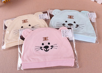 CL0235 Free Shipping 2pcs Lovely Baby Tiger Hat Newborn tire cap 100% Cotton Hat Wholesale For 0-8 Months Baby Gift