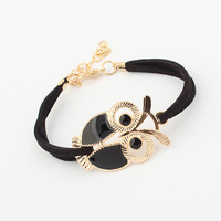 2013 New fashion lovely five colors owl chain bracelet Free shipping Min order 10USD+gift