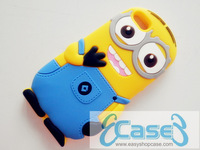 2013 New Arrival Despicable Me Cartoon Minions Silicon Rubber Case for Apple iPhone 5 DHL Free Shipping 100pcs