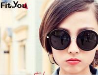 Free dropshipping new fashion sports round designer glasses Vintage punk Sunglasses for women dress G76