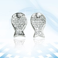 HMAE063 2013 silver earrings fashion statement wholesale rhinestone jewelry