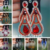 10pairs  Crystal rhinestone drop dangle earrings Luxury statement topshop chandelier wedding earrings