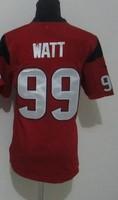 New Youth 99 JJ Watt  American football Jersey,Cheap  kids Sports Jersey,Embroidery logos,Mix order