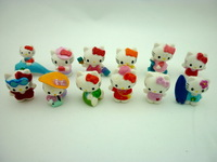 100pcs/lot  Anime Figure  Toys Hello  Kitty 2.5-3cm  (Action Figures)