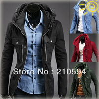 New styles Men's Metrosexual in autumn and winter the necessary long slim jacket coat  J404