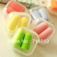 10PAIR/SET Mini box portable equipment cute candy color soft sponge earplug multicolor