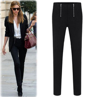 Europe American Casual All-Match Design Cotton Pencil Casual Trousers.Free Shipping!