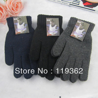Free Shipping 2013 Winter Gloves lover Gloves Fashion Winter Solid Color Wool Male Gloves Thermal Brushed Knitted Gloves