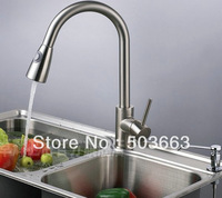 Wholesale New Swivel Kitchen Brass Faucet Basin Sink Pull Out Spray Mixer Tap Vanity Faucet Cranes S-762 Mixer Tap Faucet
