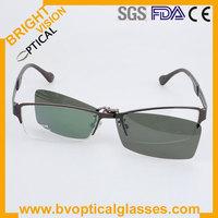 Free shipping driving sunglasses half rim clip on sunglasses (S9038)