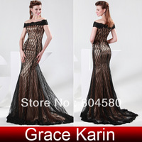 Free Shipping!Gorgeous GK Off Shoulder Lace Ball Gown Evening Dresses Prom Party Dress Black CL4471