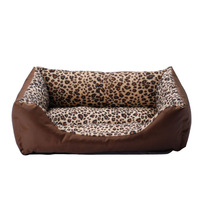 2013 new winter fashion leopard pet nest square dog bed pet nest kennel