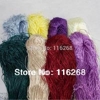 thread Crochet line Multi-purpose  Braided Ice silk yarn for knitting embroidery thread home crochet machine yarn cotton