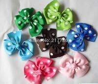 Girls' hair bow, Baby grosgrain ribbon hair bows, hairs clips, Bow hairpin,Dot bow barrette Hairbows cc32