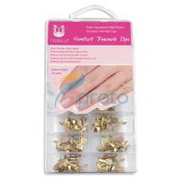 140 Medium Gold  French Nail Art Wrap Tips Professional Salon Manicure Dropshipping [Retail] SKU:A0283