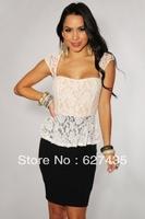 FREE SHIPPING!(10pieces)100% Brand New Women's Sexy lingerie/White Lace Black Peplum Dress,LC2830,peplum dress