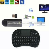 MK809 II 3D TV box  Android 4.1 Mini PC HDMI Dual Core 1GB RAM 8GB Bluetooth+2.4G wireless keyboard air mouse RC13